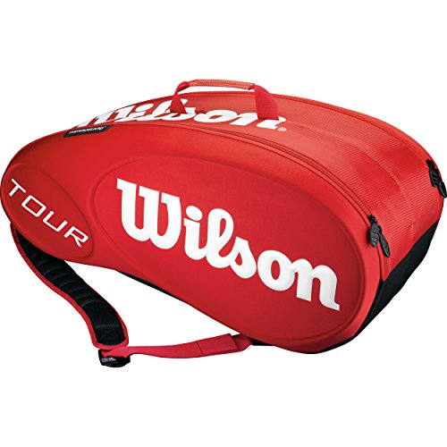 Wilson Tour Molded (9-Pack) Tennis Bag (Red) by Wilson (Image #1)