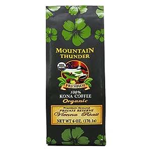 100% Organic Kona Coffee Vienna Ground 6 Oz