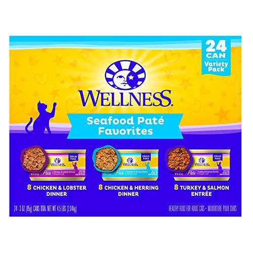 Wellness Seafood Pate Favorites Variety Pack, 3 oz (Pack of 24)