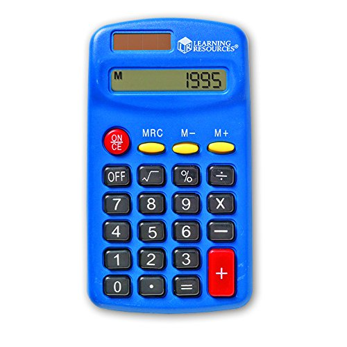 LEARNING RESOURCES PRIMARY CALCULATOR SINGLE (Set of 12) Learning Resources Primary Calculator
