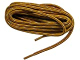 GREATLACES 48 Inch Yellow Gold-Brown Kevlar proTOUGH(TM) Reinforced Heavy Duty Boot Laces Shoelaces -(2 Pair Pack)
