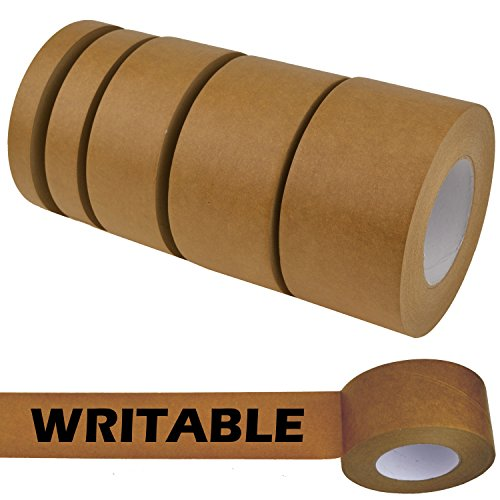 Paper Carton Sealing Tape (Star Quality Kraft Flatback Paper Tape Covering up Writing and Markings on Reused Boxes | Ultra-sticky Kraft Packaging Tape Sealing Cartons (2 Inch x 60 Yards, Kraft))