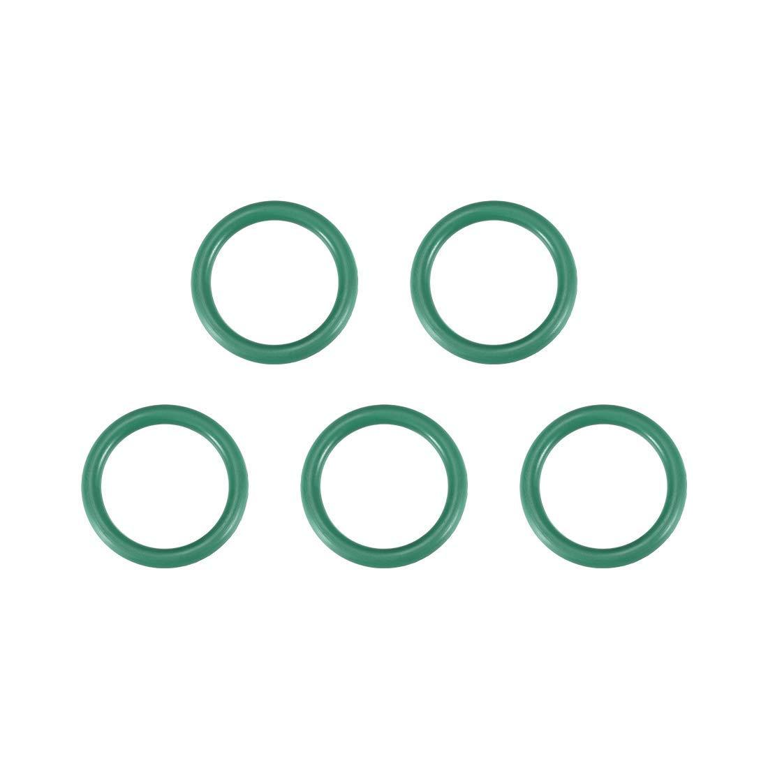 3.1mm Width Odor Rings of Fluorine Rubber 25.8mm Inner Diameter 5-Piece Green Seal 32mm Outer Diameter