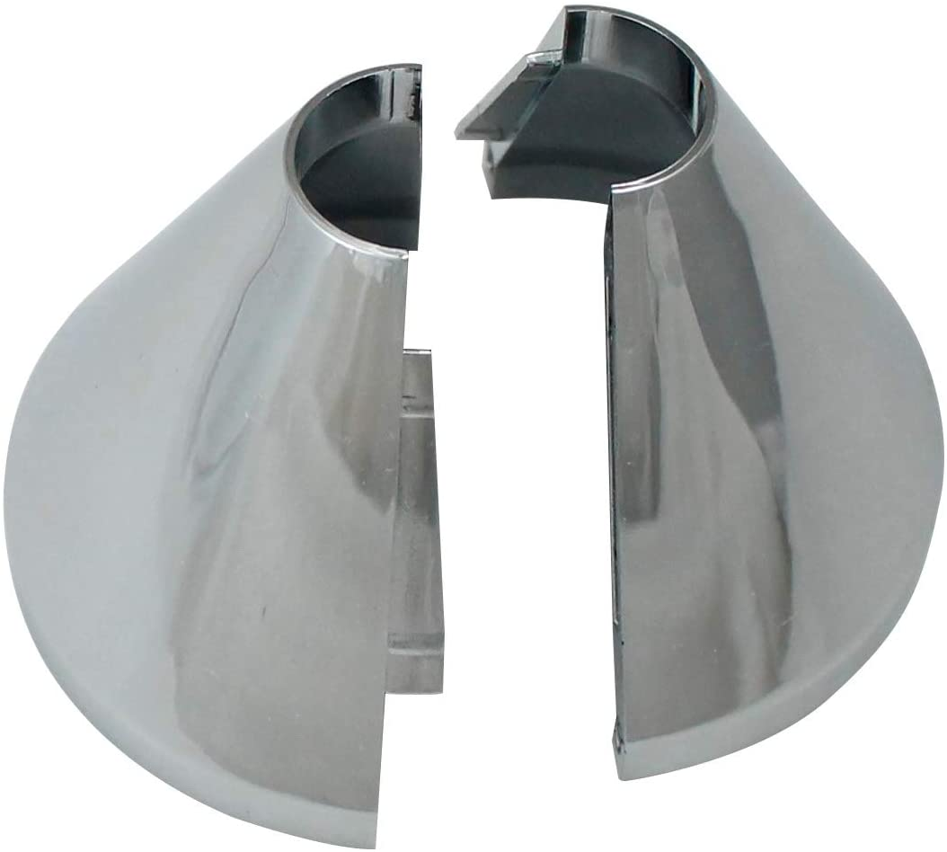 Plumb Pak K857-21 Clip on Deep Flange Cover for 1/2 in. Iron Pipe, silver