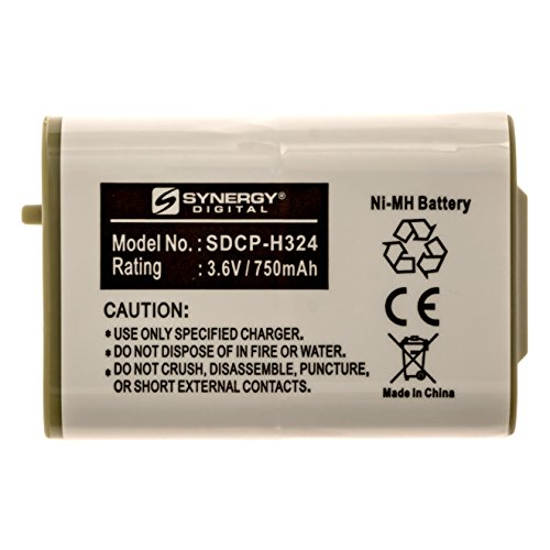 SDCP-H324 - Ni-MH, 3.6 Volt, 750 mAh, Ultra Hi-Capacity Battery - Replacement Battery for Panasonic HHR-P103 Type 25, Vtech 89-1324-00-00, 80-5808-00-00 Cordless Phone Batteries ()