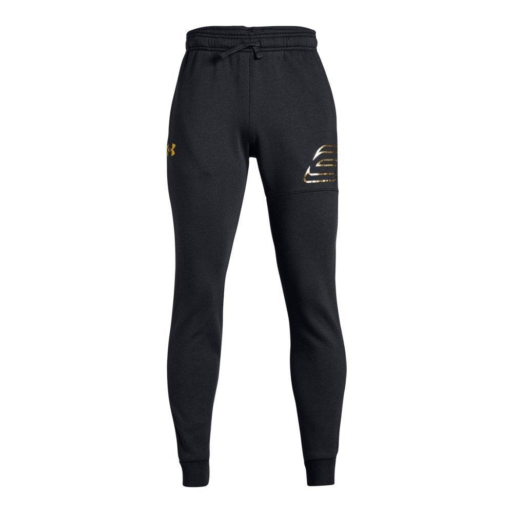 Under Armour Boys SC30 MVP Pants, Black (002)/Metallic Gold, Youth Medium