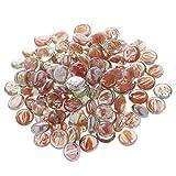 MagiDeal 100Pcs Glass Crystal Marble Beads Vase Fillers Decor - Orange