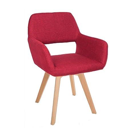 Amazon.com: LLYU Solid Wood Fabric backrest Dining Chair ...