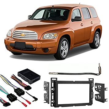 518fc Dof4L._SY355_ amazon com fits chevy hhr 2006 2012 double din aftermarket hhr wiring harness for remote start at readyjetset.co