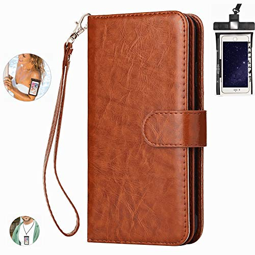 Dream2Fancy Leather Case for Huawei Mate 30 lite/nova5i pro Premium PU Leather Kickstand Card Slots Case with Free Waterproof Bag