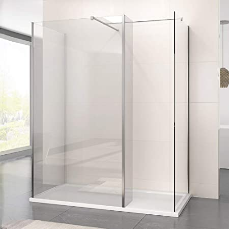 Walk In Shower With Flipper Panel.1600 X 800 Mm Walk In Shower Enclosure Panel 800mm Wetroom Shower Glass Panel With Stone Tray And 300mm Flipper Panel
