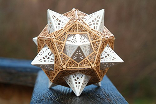 Drafter Kit (Model Kit of 'The Star Orb' a Stellated Dodecahedron inside a Dodecahedron, Sacred Geometry Kit)