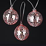 Kurt Adler 10 LED Battery Operated Color Changing Disco Ball Christmas Lights - Clear Wire