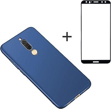 BLUGUL Funda Huawei Mate 10 Lite + Protector de Pantalla, Ultra Delgado, Totalmente Protector, Sensación de Seda, Cristal Templado y Dura Cover para Mate 10 Lite Azul: Amazon.es: Electrónica