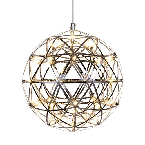 Mzithern Modern Globe Ceiling Light Fixture, Polished Chrome 16