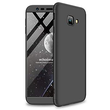 JINCHANGWU Carcasa Funda para Samsung Galaxy j4 Plus/j4+ Forro Ultra-Delgado Anti-Arañazos con Protector De Patalla - Negro