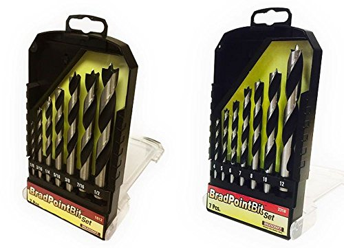 (Milescraft 7 pc. Imperial and Metric Brad Point Drill Bit Set Combo Pack)