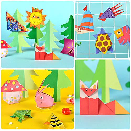 Colorful Kids Origami Kit 150 Double Sided Vivid Origami Papers 75 Origami Projects 75 Pages Instructional Origami Book Origami for Kids Adults Beginners Trainning