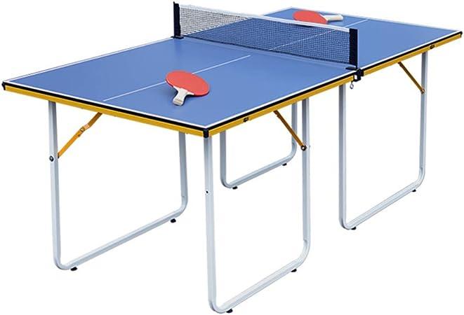 ZHRLQ Mesa de Ping-Pong portátil, no es Necesario Instalar MDF de ...