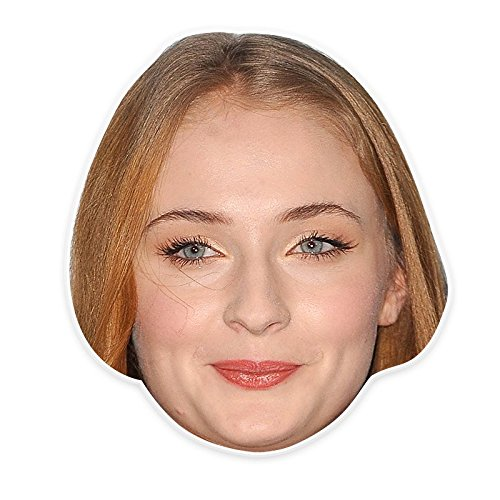 Unwelcome Greetings Silly Sophia Turner Mask, Perfect for Halloween, Masquerades, Parties, Festivals, Concerts - Jumbo Size (Sophie The First Costume)