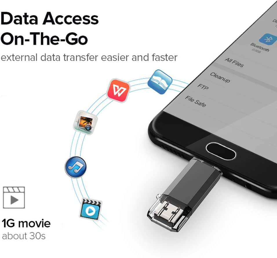 2 in 1 OTG Memory Stick for for Android Smart Phones Computer Laptop USB-C 3.0 High Speed Copay Photos Videos Music etc Black USB-A 3.0//USB-C 3.0 JOIOT Type C Flash Drive 32GB USB 3.0 Jump Drive