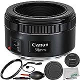 Canon EF 50mm f/1.8 STM Lens 8PC Accessory Bundle – Includes Manufacturer Accessories + UV Filter + Lens Cap Keeper + MORE – International Version (No Warranty)