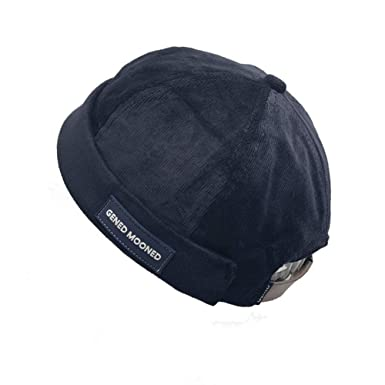 Clape Harbour Hat Men Women Commando Short Beanie Skullcap Sailor Cap  Rolled Cuff Brimless Strap- 818a60dc952e