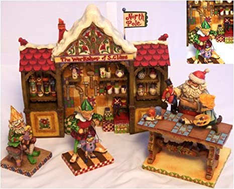 Jim Shore Christmas Set /4 SANTAS WORKSHOP 4008233