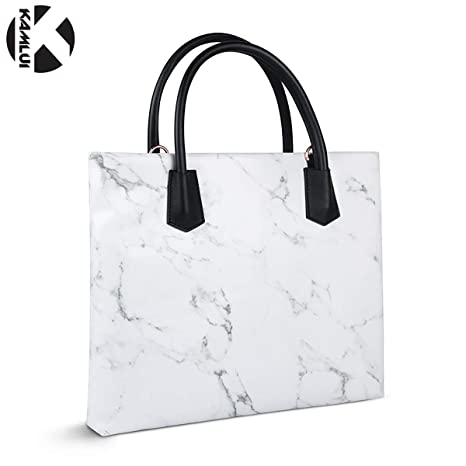 KAMLUI Laptop Bag 15.6 Inch-for Women - Marble Material Waterproof Business  Shoulder Womens Laptop 153f9d45e9