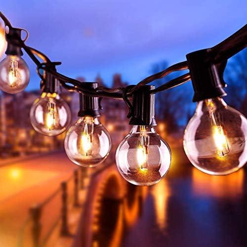 AETKFO Luci Esterno Catena Luminosa, 25+4 Bulbi Lampadine da Esterno da Appendere Catena Luminosa Esterno Interno Luminosa di Luci G40 Giardino Stringa 9,5m per Patio,Matrimonio- Impermeabile IP44