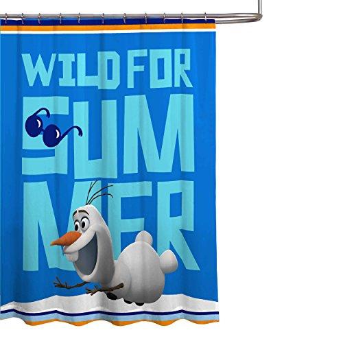 "Disney Frozen Olaf 70"" x 72"" Microfiber Fabric Shower Curtain"