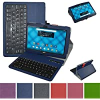 Acer Iconia One 10 B3-A10 Bluetooth Keyboard Case,Mama Mouth Coustom Design Slim Stand PU Leather Case Cover With Romovable Bluetooth Keyboard For 10.1 Acer Iconia One 10 B3-A10 Android Tablet,Blue