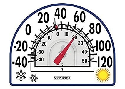 Airco, verwarming Springfield Static Cling Thermometer