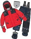 Deux par Deux Little Boys' 2-Piece Snowsuit Hey Mr Dj Red, Sizes 18-36M - 30M