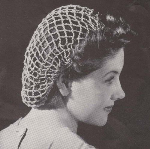 Beach Net Crochet Snood Hat Cap Crocheted Hairnet Hair Net Pattern ()