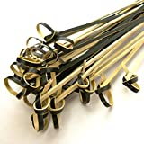 BambooMN 3.5'' Black Knot Knotted Bamboo Cocktails Hors D'oeuvres Fruit Sandwich Skewers Picks for Catered Events, Holiday's, Restaurants or Buffet Party Supplies, 200 Pieces