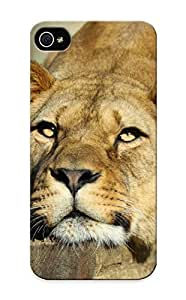 Diycase Awesome Big Cats Lions Snout Animals Lion Flip case cover With Fashion Design cGkkgF2yldq For Iphone 6 4.7'' As New Year's Day's Gift