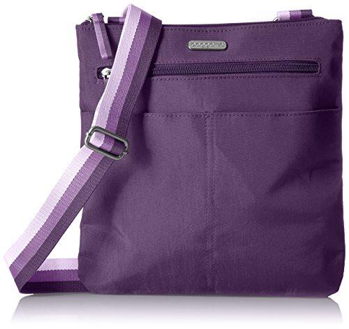 Baggallini Fine Line Slim Crossbody - Cross Body Bag Purple
