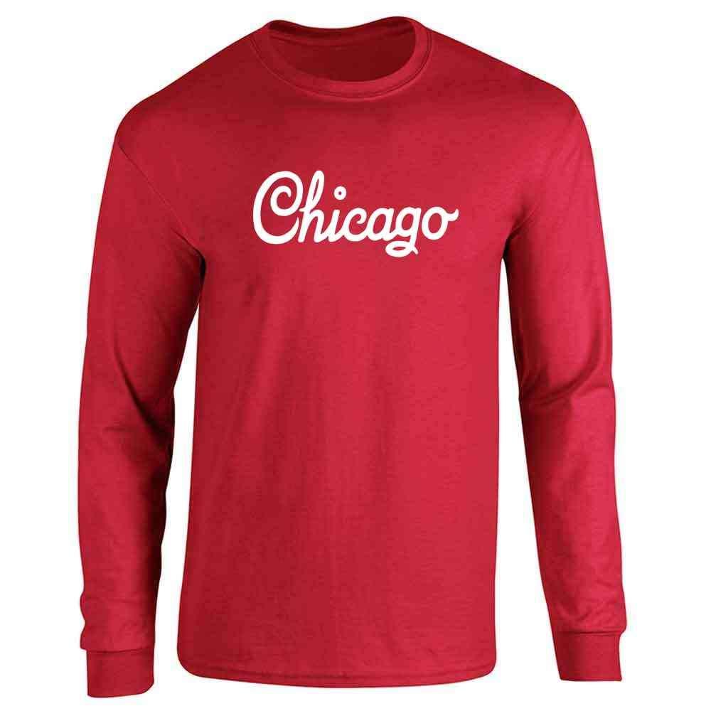 Chicago Illinois Retro Vintage Travel Long Sleeve T-Shirt