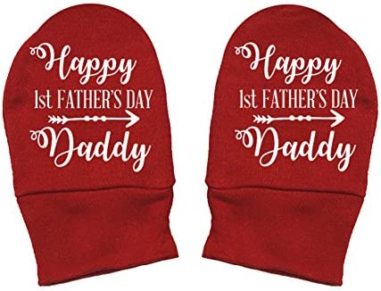 Arrow Happy 1st Fathers Day Daddy Thick Premium - Daddy Gift Fathers Day Thick /& Soft Baby Mittens Mashed Clothing