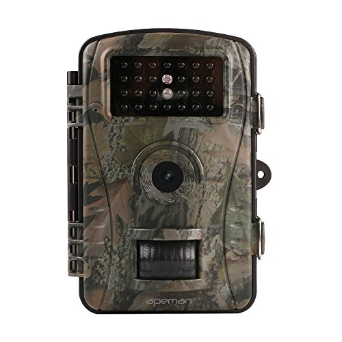 APEMEN Trail Camera Hunting Game Camera with Infrared Night Version, 2.4 inch LCD Screen, PIR Sensors, IP54 Spray Water Protected design - Spray Display