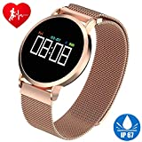 Smart Watch Fitness Tracker HR for Men Women Kids IP67 Waterproof Fashion Smart Watch with Heart Rate Blood Pressure Sleep Monitor Pedometer Calorie Tracker Sport Outdoor Wristband for Android/iOS