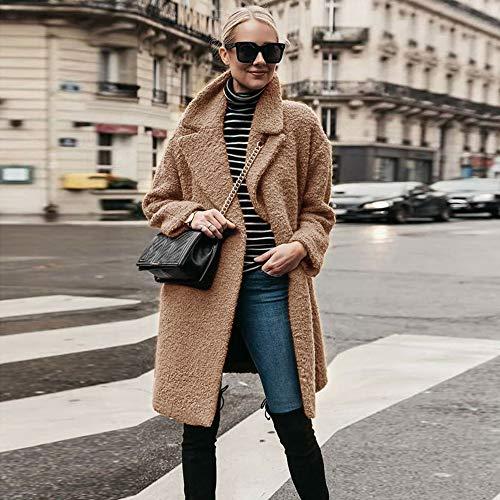 cachi marrone Blazer Fit Bianco Cappotto Giubbotto Slim nero Marrone Caldo Trench Invernali Donna Outerwear S Giacche xxxl Ashop UFqwUO6
