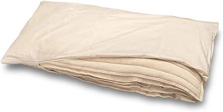 Las almohadas hechas de algodón orgánico y lino orgánico, Baumberger, Kissengröße:80x80: Amazon.es: Hogar