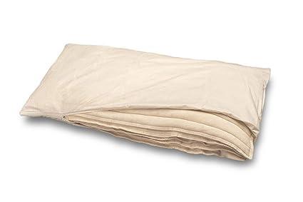 Las almohadas hechas de algodón orgánico y lino orgánico, Baumberger, Kissengröße:80x80