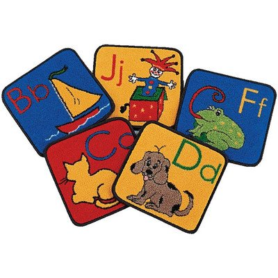 Carpets for Kids ABC Phonic Squares, Set of 26
