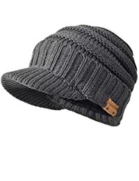 FORBUSITE Knit Visor Beanie Winter Hats for Men