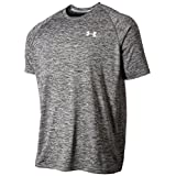 Under Armour Men's Tech Short Sleeve Tee, Black/White (009), Large