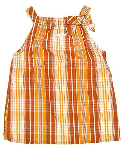 Concepts Sport Texas Longhorns NCAA Little Girls Plaid Tank Top & Capri Pant Set, Burnt Orange