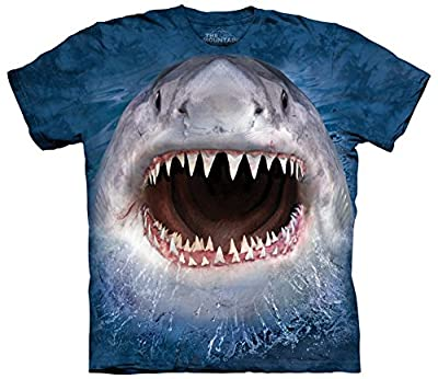 Wicked Open Mouth Shark (Unisex Adult) T-Shirt
